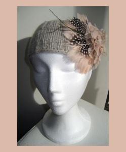 Cinta de lana flor rosa